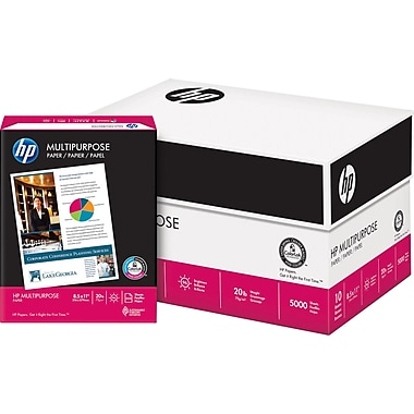 HP Multipurpose Paper, 8 1/2in. x 11in., Case