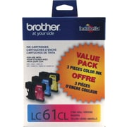 Brother LC61 Colour Ink Cartridges, Combo Pack