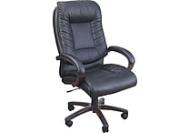 Staples® Caswell™ Leather Managers Chair, Black