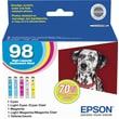Epson 98 Color C/M/Y/LC/LM Ink Cartridges (T098920), High Yield, Combo 5/Pack