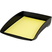 Storex Black Plastic Large Letter Tray, (Recycled)