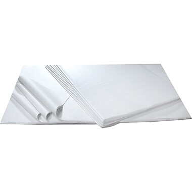 Solid Tissue Paper, White, 20