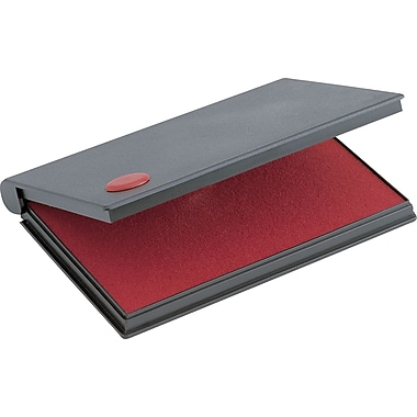 Cosco® Felt Stamp Pads, 3-1/2in. x 6-1/4in., Red