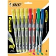 BIC® Brite Liner®+ Liquid Highlighters, Assorted, 8/Pack