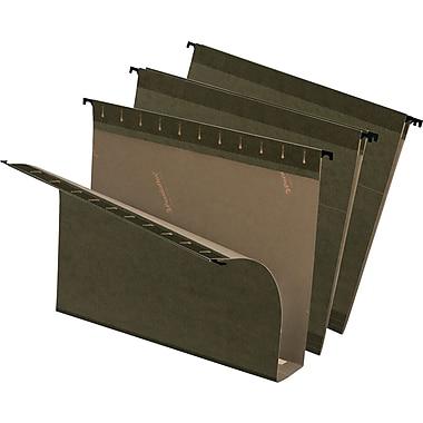 Pendaflex® - Chemises suspendues SureHook® grande capacité, expansion de 2 po, format lettre, 8 1/2 po x 11 po, vertes