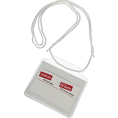 Staples® String-Style Name Badge Kit, 10-Pack