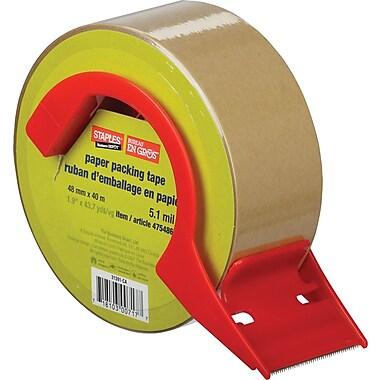 Staples® – Ruban d'emballage Kraft avec dévidoir