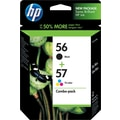 HP 56/57 Black and Tricolor Ink Cartridges (C9321BN), Combo 2/Pack