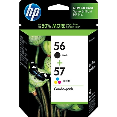 HP 56/57 Black and Tri-color Ink Cartridges (C9321BN), Combo 2/Pack