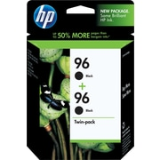 HP 96 Black Ink Cartridges (C9348FN), Twin Pack