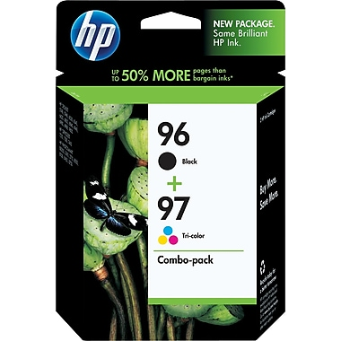 HP 96/97 Black and Tricolor Ink Cartridges (C9353BN), Combo 2 Pack