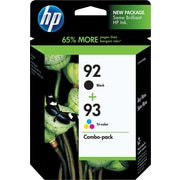 HP 92/93 Black and Tricolor Ink Cartridges (C9513BN), Combo 2/Pack