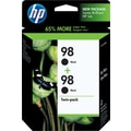 HP 98 Black Ink Cartridges (C9514BN), Twin Pack