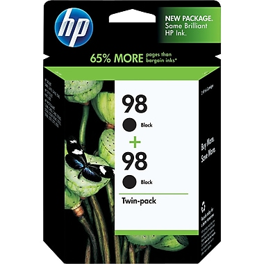 HP 98 Black Ink Cartridges (C9514BN), 2/Pack
