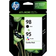 HP 98/95  Black and Tricolor Ink Cartriges (CB327FN), Combo 2 Pack