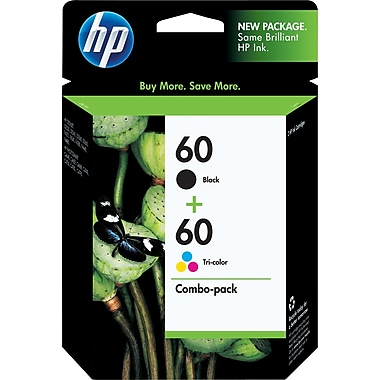 HP 60 Black and Tri-color Ink Cartridges (CD947FN), Combo 2 Pack