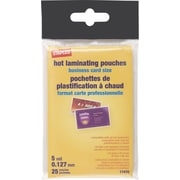 Staples 5 mil Pouch, Business Card, 25/Pack (17470)