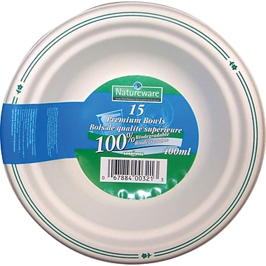 Natureware Premium Biodegradable Bowl, 15-Pack
