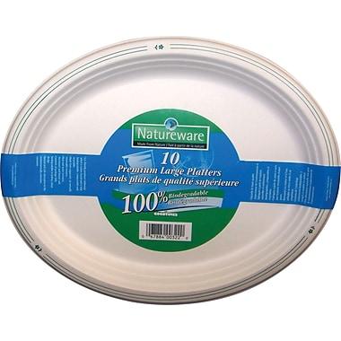 Natureware Premium Biodegradable Platter, 10/Pack