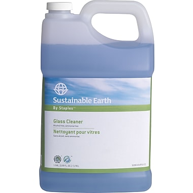 Sustainable Earth by Staples® Glass Cleaner Refill, 1 Gallon