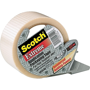 Scotch™ Extreme Application Reinforced Tape with Dispenser, Clear