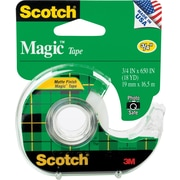 Scotch® Magic™ Tape, 3/4 x 18 yds with Dispenser, 1 Core