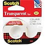Scotch Transparent Tape, 1/2 X 450 With Dispenser,