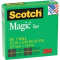 Scotch Magic Tape 810 Refill, 1/2in. x 36 yds, Each