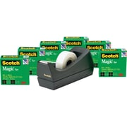 "Scotch® Magic™ Tape Refill 810, 3/4"" x 1000"" with C38 Desktop Dispenser, 6 Rolls Tape, 1 Dispenser, 1"" Core"