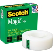 "Scotch® Magic™ Tape 810, 3/4"" x 27 yds, 1"" Core"