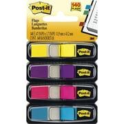 Post-it® - Languettes, 1/2 po, couleurs vives, paq./140