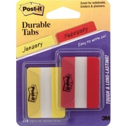 "Post-it® 2"" Red & Yellow Durable Tabs, 44 Tabs/Pack"