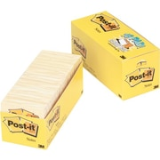 "Post-it® Original Pad Notes, 3"" x 3"", Canary Yellow, 18/Pk"