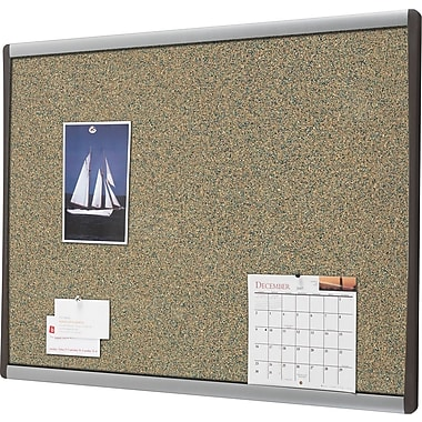 Quartet® Premium Coloured Cork Bulletin Boards, Aluminum Frame, 11