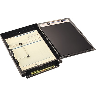 OIC® Recycled Side-Opening Form Holder, Letter / A4 Size, Black & Gray, 10 1/8in. x 14 3/8in. x 1 7/8in.