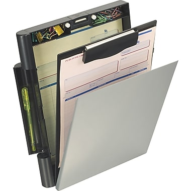 OIC® Recycled Top-Opening Form Holder, Letter / A4 Size, Black & Gray, 10 1/8in. x 13 3/4in. x 2 3/8in.