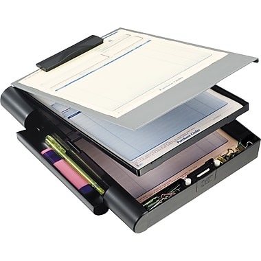 OIC® Recycled Double Storage Form Holder, Letter / A4 Size, Black & Gray, 10 1/4in. x 13 3/4in. x 2 3/8in.