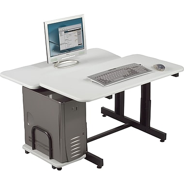 Balt 83681 Single Split Level 36 Training Table and Workstation, Gray