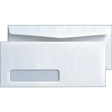 Quality Park™ Park Ridge™ #10, Left Window Embossed Executive Gummed Envelopes, 500/Box