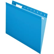 Pendaflex® 5 Tab Hanging File Folders, Letter, Blue, 25/Box