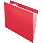 Pendaflex® 5 Tab Hanging File Folders, Letter, Red, 25/Box