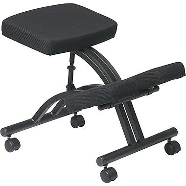 Office Star Kneeling Leather Kneeling Office Chair, Armless, Black (KCM1420)