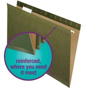 Staples® 100% Recycled Reinforced Hanging File Folders, 5-Tab, Legal, Standard Green, 25/Box (16402)