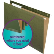Staples® 100% Recycled Reinforced Hanging File Folders, Legal, 3 Tab, 25/Box