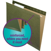 Staples® 100% Recycled Reinforced Hanging File Folders, 3-Tab, Letter, 25/Box (16472-US-CC)