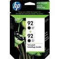 HP 92 Black Ink Cartridges (C9512BN), 2/Pack