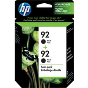 HP 92 Black Ink Cartridges (C9512BN), Twin Pack