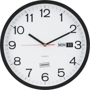 "Staples 12.5"" Round Clock (18377)"