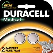 Duracell DL2032 3 Volt Lithium Battery, 2/Pk