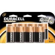 Duracell D Batteries, 8/Pack